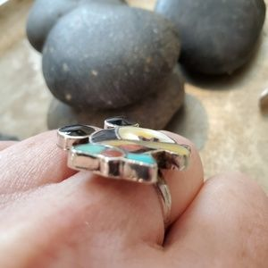 Native American Jewelry - Vintage Zuni Sterling Mickey Mouse Ring